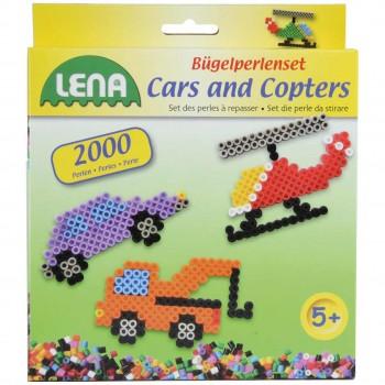 Bügelperlenset Fahrzeuge mit Steckplatte