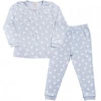 Mädchen Schlafanzug Schwäne in hellblau