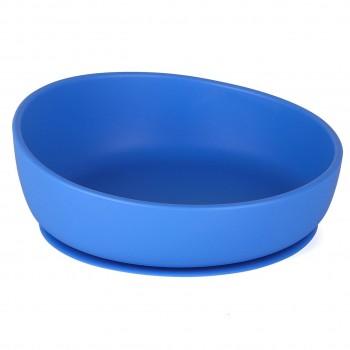 Esslernschüssel für Babys - Doidy Bow blau