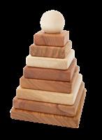 Vorschau: 10-tlg Pyramiden Steckspiel mit natürlichen Ölen behandelt