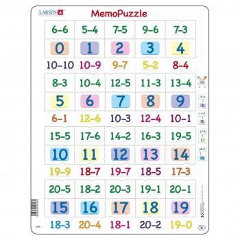 Lernpuzzle Zahlen 1-20 für Kinder ab 5 Jahre