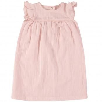 Rosa Musselin Retro Kleid