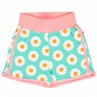 Leichte Glänseblümchen Jersey Shorts in hellblau