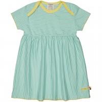 Flatter Kleid feine Streifen mint