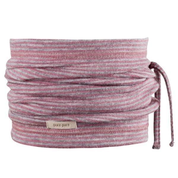 Wolle Seide 3in1 Schlauchschal Beanie in einem rosa