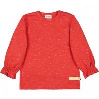 Leichtes Slub Jersey Shirt langarm in rot