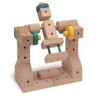 Vorschau: XL Baukasten mit Hammer & Zange Holz 350tlg