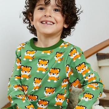 Tiger Shirt langarm grün
