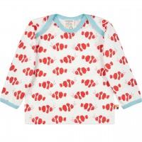 Leichtes Shirt langarm Fische in rot/hell