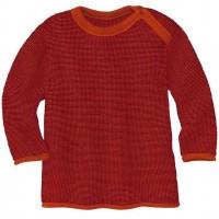 Pullover Baby Schurwolle in orange-bordeaux
