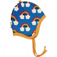 Babymütze leicht mit Ohrenschutz Regenbogen