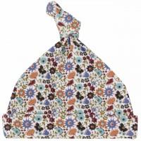 Babymütze mit Knoten Zipfelmütze - Blumenwiese