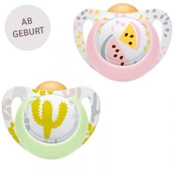 GENIUS Latex Beruhigungssauger 0-6 Monate Melone