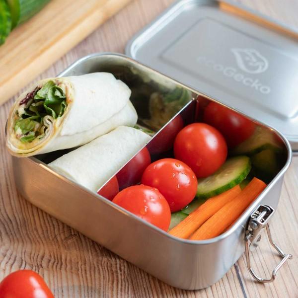 Edelstahl Brotdose auslaufsicher & flexibel teilbar - 800ml