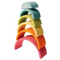 Mittlerer Regenbogen 17 cm 6teilig pastell