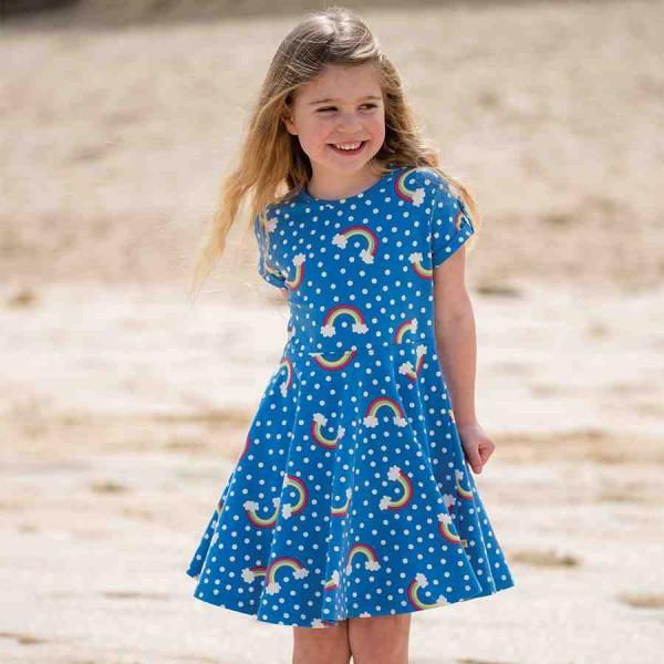 Sommerkleid zum Drehen und Flattern blau