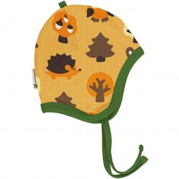 Babymütze gefüttert Nicki Wald Tiere in gelb