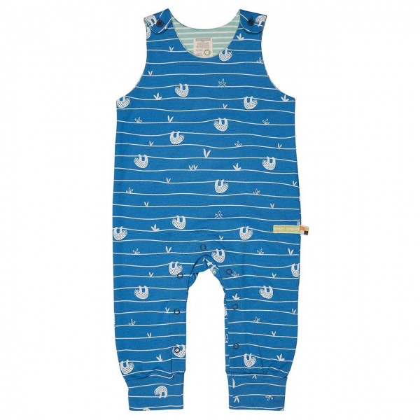 Leichter Sweatstrampler Faultiere blau