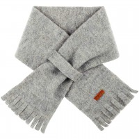 Steckschal Wolle 70 cm ca. 1-3 Jahre grau