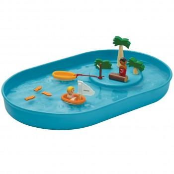 Wasserspielzeug für Kinder ab 3 Jahre aus Holz u. Kautschuk