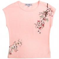 Sommer Shirt Blumen-Druck in rosa
