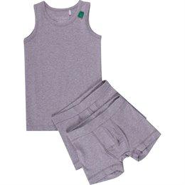 Set 1 Unterhemd 2 Shorts grau
