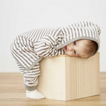 Babyjacke Nicki Streifen grau
