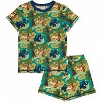 Sommer Schlafanzug Dschungel grün