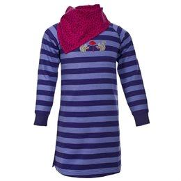 Warmes Sweatshirt für Mädchen hinten etwas länger lila