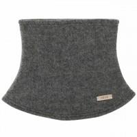Schiefer-grauer Loopschal Wolle Fleece