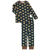 Igel Schlafanzug navy dünn und elastisch