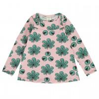 Mädchen Shirt Kastanie rosa langarm gerafft