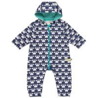 Ungefütterter leichter Baby Overall marine