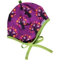 Gefütterte Babymütze zur Geburt lila