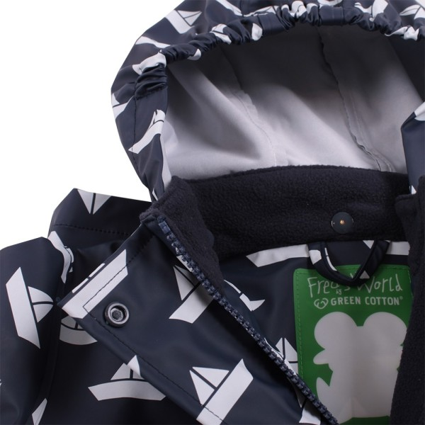 Kinder Regenanzug SET ungefüttert + Tasche Boote