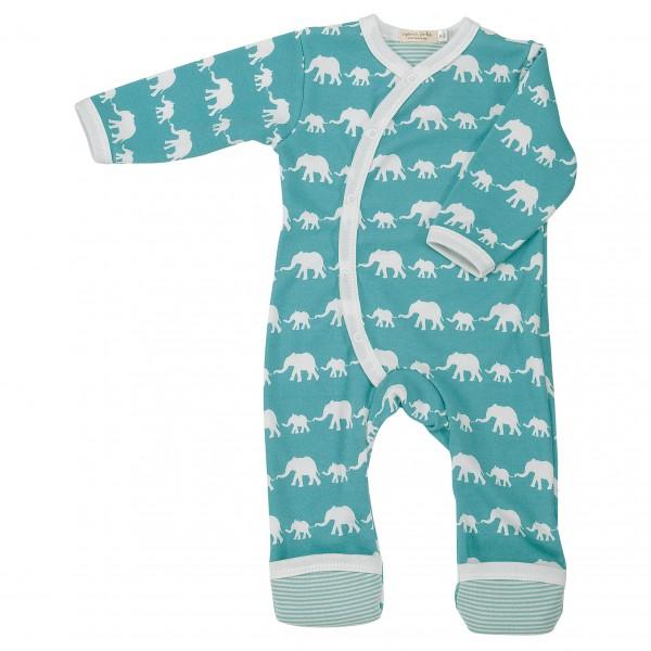 Mitwachsender Strampler Fuß Umschlagbündchen - Elefant