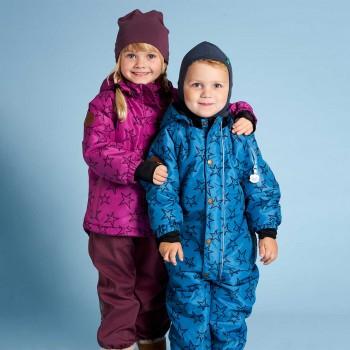 Sternen Schnee-Overall blau