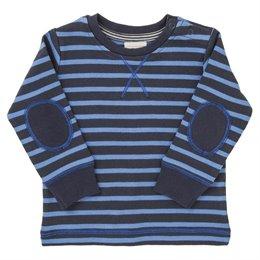 Dickeres Langarmshirt blau gestreift