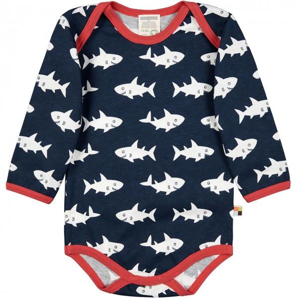 Body langarm Haie in dunkelblau