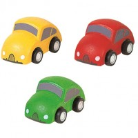 Vorschau: Holzfahrzeuge Mini Autos 3 Stück