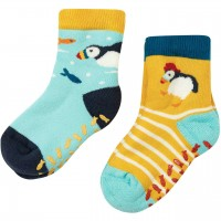 Stoppersocken 2er Pack Frottee Papageitaucher