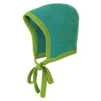 Baby Mütze Merinowolle atmungsaktiv grün