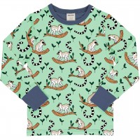 Lemur Shirt langarm Bündchen in grün