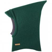 Warme Schlüpfmütze mit Schirm in grün