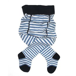 Babystrumpfhose Feinstrick mit breitem Bund - geringelt