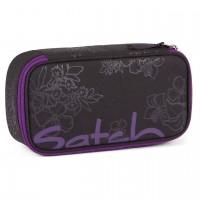 Schlamperbox satch mit Organisierfach Purple Hibiscus