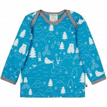 Winterwald Shirt langarm in türkis
