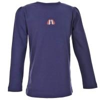 Langarmshirt für kühle Tage lila mit Igeln