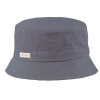 Fischerhut Junge und Mädchen grau Twill 50+ UV Schutz