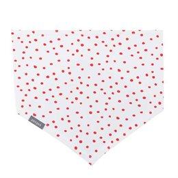Elastischen Halstuch zum Binden weiss mit roten Punkten